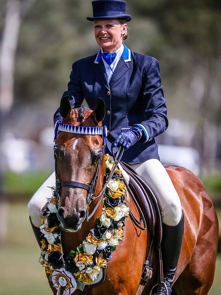 Supreme Saddle Horse of the Show was Chelleason Magnum's Gold, Cheryl Edwards