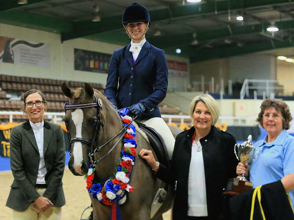Alex and Top Fancy Carina won the 2017 West Coast Cup. Photo Vicki Tapper