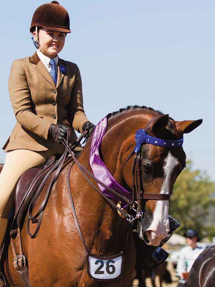 Kayla Webb riding Larundel Geisha